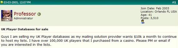 Player database sale offer